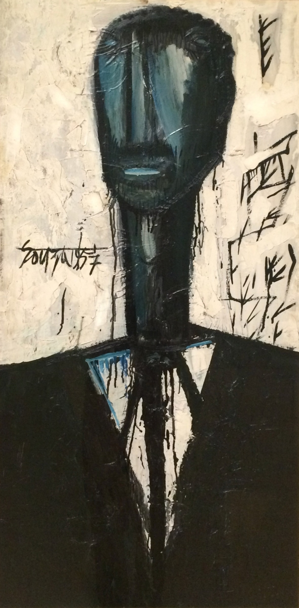 1957 Negro In Mourning, oil paint on hardboard Birmingham City Council Collection © The estate of F.N. Souza/DACS, London 2018