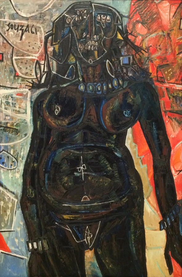 1961 Black Nude, oil paint on canvas Victoria and Albert Museum Collection © The estate of F.N. Souza/DACS, London 2018