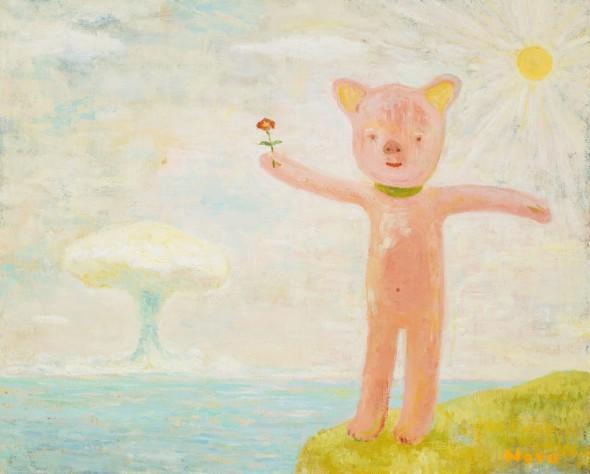 Sunny Day Holy Joy by Yoshimoto Nara, 1995 Oil on canvas 53 × 65.2 cm ©Yoshimoto Nara