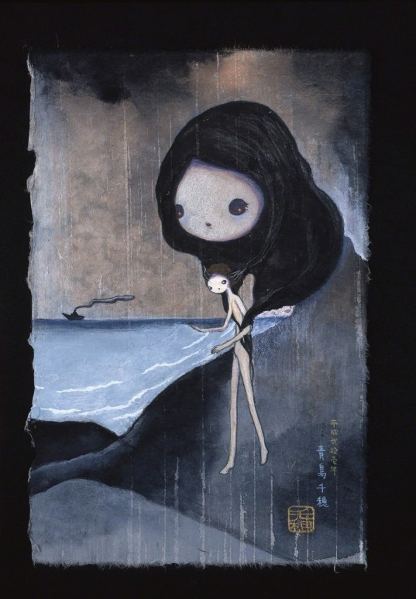 Untitled by Chiho Aoshima, 2009 Color on Japanese rice paper 32 × 20.5 cm ©Chiho Aoshima