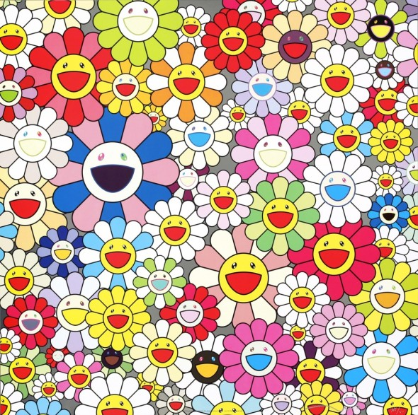 Such Cute Flowers by Takashi Murakami, 2011 Offset lithograph 50 × 50 cm ©Takashi Murakam