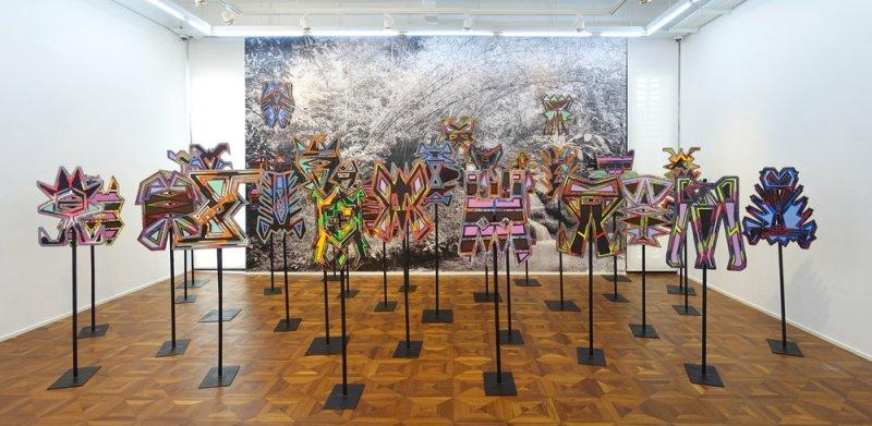Installation view of 'Migratory Objects' at Richard Koh Fine Art, Kuala Lumpur. 2017 © Haffendi Anuar