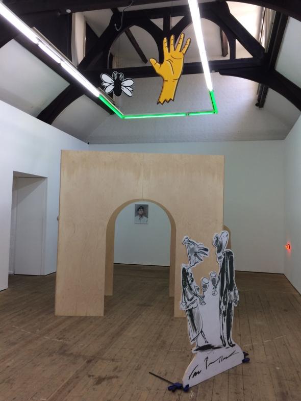 Monty exhibition view