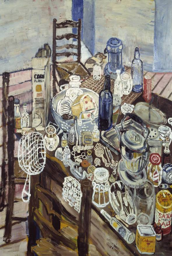 'Still Life with Chip Frier', 1954 by ©John Bratby