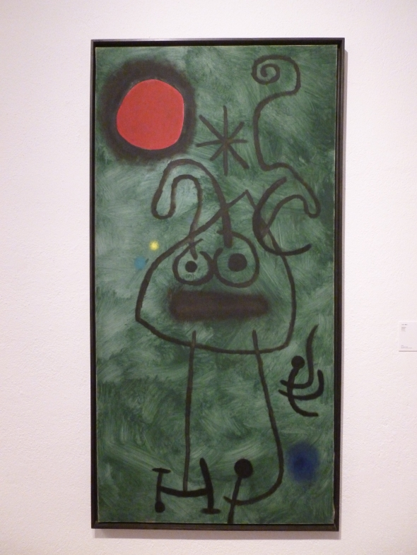 'Painting' 1953, Oil on canvas, 195 x 97cm © Fundació Joan Miró, Barcelona. On loan from a private collection