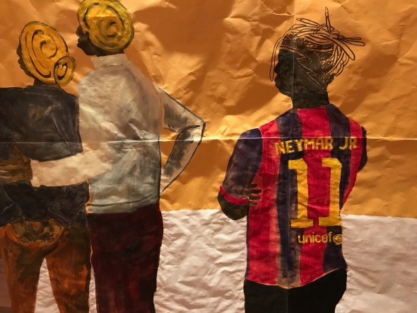 Detail of the artist as Neymar JR. © Maxwell Alexandre